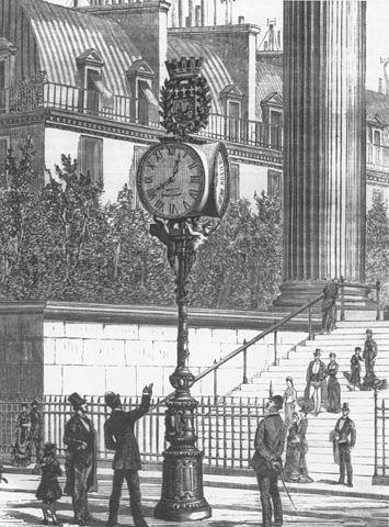 Парижская сеть пневматических часов 19 века