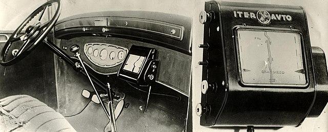 Первые навигаторы для автомобилей