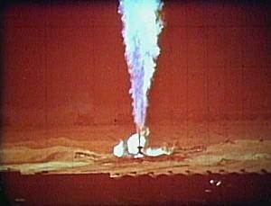 Газовый факел, который горел три года, и был потушен термоядерным взрывом