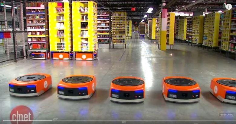 Складские роботы Kiva Systems