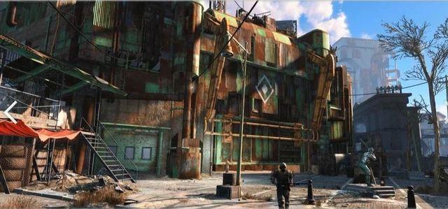 Город на стадионе в Fallout-4 и в реальности